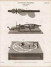 1812 ~ stampa Georgiano macchine PLANETARIA cometarium da W. JONES Astronomia