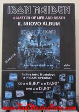 Gebundene Ausgabe iron maiden in metter of life and death PROMO Poster Billboard