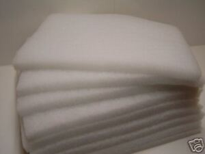 1x Filtervlies 100 x 50 x 3 cm weiß  Feinfilter Koi Filter Teich Fisch