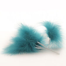 Wired Fluffy Feathers Fluff Feather x 6 Dark Turquoise