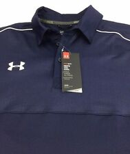 Under Armour Men's Polo Shirt PROTECT THIS HOUSE Loose Navy Blue NEW $64 Size: M