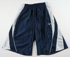 Nike Boys Poylester Navy Blue White Striped Athletic Shorts Medium NO POCKETS