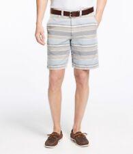 """Mens L.L. BEAN Size Large 36 - 38 Waist LINEN Cotton SHORTS 9"""" Inseam ALLAGASH"""
