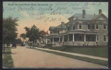 POSTCARD SAVANNAH GEORGIA/GA 37TH STREET LARGE FAMILY HOMES/HOUSES 1907