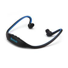 Écouteurs arceaux bleus bluetooth sans fil
