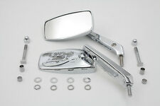 Rectangle Eagle Spirit Style Mirror Set Chrome,for Harley Davidson motorcycle...