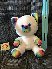 "Build a Bear Buddies Plush Kitty Cat White Rainbow Tie Dye 8"""