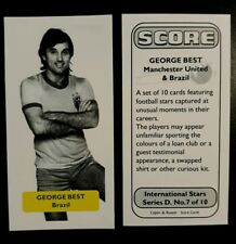 GEORGE BEST - Manchester United & Brazil (!) - Score UK football trade card