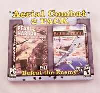 New Aerial Combat 2Pack: Battle of Britain & Pearl Harbor PC Computer Video Game