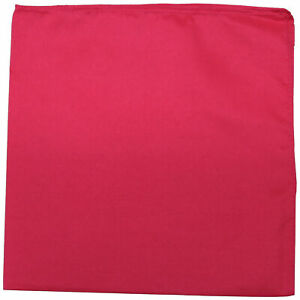 96 Pack Qraftsy Plain 100% Polyester Bandanas - Bulk Lot