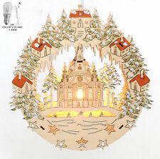 Fensterbild beleuchtet Winterspatzen Spatzen hell 24cm orig.Erzg Stern Fenster