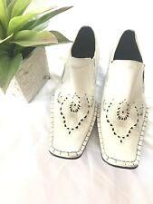 Fiesso Aurelio Garcia Men's Shoes Designer White Leather Made Italy sz 43 US 10
