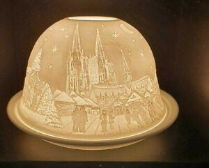 Windlicht Porzellan Lampe + Engel Kölner Dom Kinder + Teelichthalter Deko Tisch