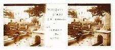 Cimetière musulman Mosquée Abd al-Rahman Algérie Photo Plaque de verre Stereo