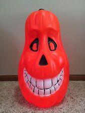 "Vintage 22"" Halloween Drainage Smiley Gourd Pumpkin Lighted Blow Mold Decoration"