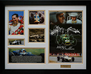 Jack Brabham Limited Edition Framed Memorabilia (w)