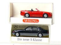 Wiking 142 Mercedes 500 SL Cabrio + Neue S-Klasse   H0/ 1:87 wie neu OVP