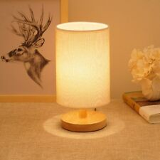 Retro Japanese Bedside Table Lamp Wood Shades Desk Night Lights with USB Cable