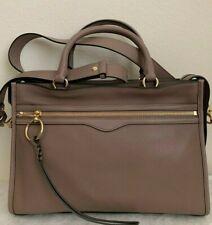 NWT!! Rebecca Minkoff Bedford Leather Zip Satchel Bag $348 Mink