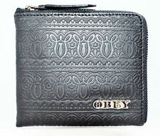 Obey Men wallet name Bombed slim zip wallet