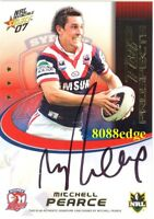 2007 SELECT NRL TOP PROSPECTS SIGNATURE #TP14: MITCHELL PEARCE #31/350 ROOSTERS