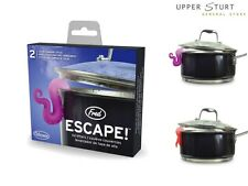 Fred ESCAPE! Pot Lid Lifters Set of 2 Heat Sensitive Colour Changing Silicone