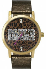 Paul's Boutique London Designer Leopard Print Ladies/Girls Watch Leather Strap