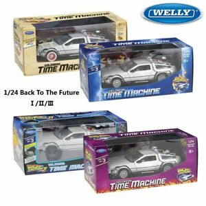 new 1:24 Car Model Toy Delorean Back To The Future DMC-12 Metal Alloy