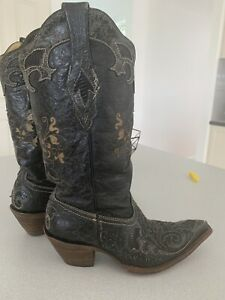 Corral Women's Leather Cowgirl Boots 7M 2108 14707 Tan Leather From Las Vegas