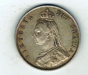 1887 Victoria silver Florin Two shilling coin - 11.3g
