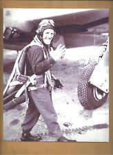 """Robert Rankin Ace Pilot """"10 Kills""""  WW2 Autographed 8x10 Picture Autograph P-47"""