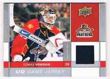 2009-10 UD GAME JERSEY TOMAS VOKOUN JERSEY 1 COLOR FLORIDA PANTHERS #GJ-VO