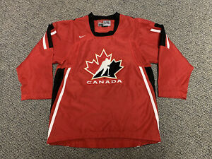 2006 Olympics Hockey Canada Jersey Torino Red Home Nike Large L XL Boys Youth
