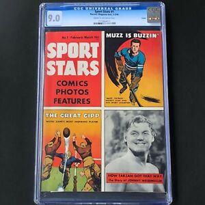SPORT STARS #1 (1946) 💥 CGC 9.0 💥 SINGLE HIGHEST GRADED! Muzz Patrick