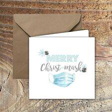 CHRISTMAS CARDS, LOCKDOWN, QUARANTINE Happy Christ-mask  PACK OF 5