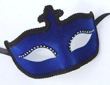 Femmes en velours bleu Bijoux vénitien mascarade Partie Carnaval Eye Ball Masque