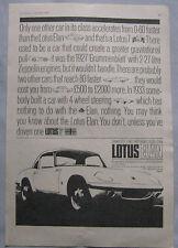 1965 Lotus Elan Original advert No.3