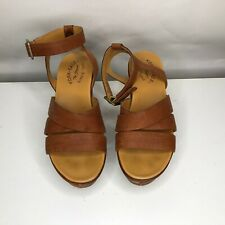 Kork Ease Ava Leather Slingback Platform Sandals Women's Size 7M