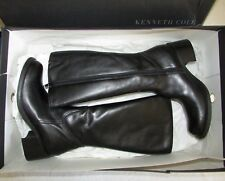 KENNETH COLE Black Leather French Fry LE Tall Boots - EUR37 - NEW