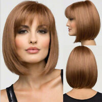 Women Short BoB Wig Fashion Straight Cosplay Wigs Heat Resistant Hair Natural