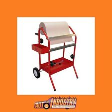 NEW! MOBILE SPRAYPAINTERS MASKING TROLLEY FOR UP TO 2 MASKING PAPER ROLLS & TAPE