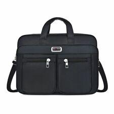 New Mens Black Backpack Nylon Shoulder Crossbody Briefcase Office Bag
