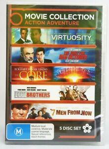 5 Movie Collection Action Adventure DVD Set Region 4 PAL. Free postage!