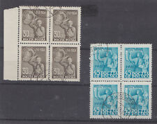 Poland 1951 Children's Day Blocks of Four (SG 703/4) (used,)