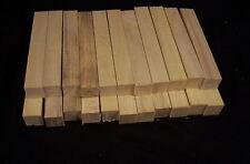 "22 Piece Hackberry Pen Blanks 3/4 x 3/4 x 5"" Lathe Turning Craft Wood Lumber"