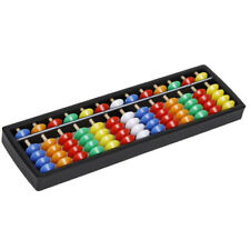 Plastic Abacus Arithmetic Soroban Calculating Tool 13 Rods with Colorful Beads