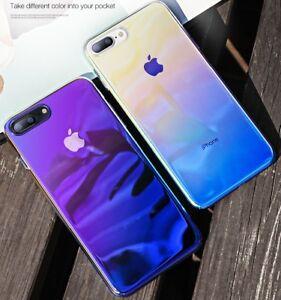 Handy Hülle Farbwechsel Back Cover Schutz für iPhone X/XR 11 12 ProMax XSmax 7 8