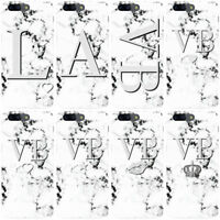DYEFOR PERSONALISED MONOCHROME MARBLE INITIALS PHONE CASE COVER FOR ONEPLUS
