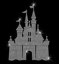 Castle Hotfix Rhinestone Bling Iron on Heat T-shirt Transfer Disney Inspired