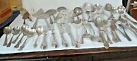 55 Pieces Vintage Mixed Silverplate Flatware Serving Pieces for Arts & Crafts